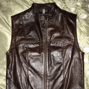 Women's Genuine Leather Vest!